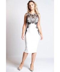 6a0a81f40fdd Elegantné biele šaty KARA KARA
