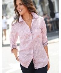 Blancheporte Košile s puntíky růžová pudrová 68cb663372