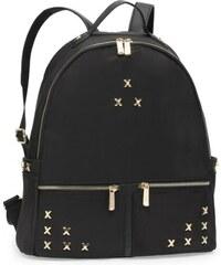 d1fac78161f Anna Grace elegantní černý batoh s ozdobnými cvočky