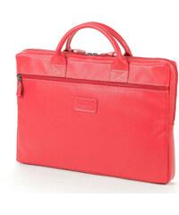 b3c29aa61a WILD SKIN Kožená taška na notebook CALLE – červená popruh přes rameno  bez  popruhu
