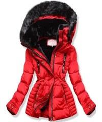MODOVO Dámska zimná bunda s kapucňou W736 červená a390921ce4b