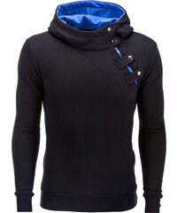 Ombre Clothing Pánská mikina Paco s bočním zipem černo-modrá 614098bfe3