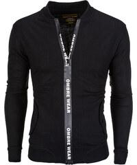 Ombre Clothing Férfi cipzáras pulóver kapucni nélkül Drew fekete c45204601c