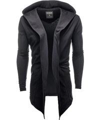 Ombre Clothing Pánský cardigan s velkou kapucí Corbin černý 88265a37bf