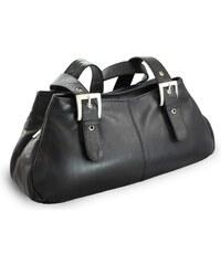 924e730d93e Arwel Kožená trojzipová kabelka - černá