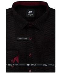 defde0bd5274 Pánské košile AMJ Style Slim VDSR 1013 černočervená
