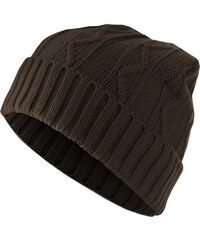76d2a0a67dd Urban Classics Beanie Cable Flap chocolate one size