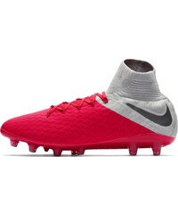 Nike Hypervenom Phantom Pro DF Mens AG Football Boots Crimson Grey 4c0348b7583