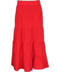 77e8147baea Radka Kudrnová Červená dlouhá dámská letní sukně