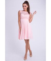 0b24cb96d237 Perfect Krátké společenské šaty s krajkovým vrškem a nabíranou sukní