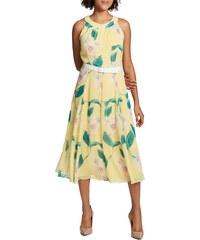 Tommy Hilfiger letní šifónové šaty s květinovým potiskem lemon (S 36) 04c6b07c95