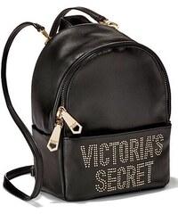 8f437e4617e Victoria s Secret luxusní černý batůžek Pebbled V-Quilt Small City ...