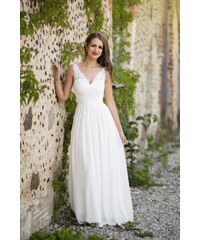 Bílé maxi šaty bez rukávů - Glami.cz 14a9c04ff4