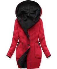 Dámský zimní kabát DINAH červené - červená 7f8dea66438