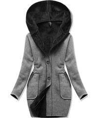 b3b468b0157 Dámský zimní kabát DINAH šedý - šedá