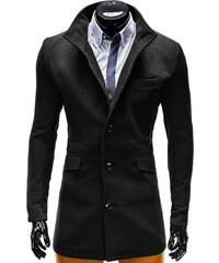 Zapana   Ombre Clothing Pánský elegantní zimní černý kabát se stojáčkem  Victor bc98402df36
