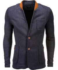 13d46e6e3fe Ombre Clothing Pánské neformální sako se záplatami na loktech Jacques  grafitové