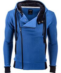 2cdbbb59e55 Ombre Clothing Pánská křivák mikina Chandler s kapucí modrá