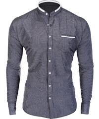 a335638143c Ombre Clothing Pánská košile bez límečku Prince černá
