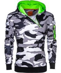 Ombre Clothing Férfi pulóver kenguru zsebbel Magento terepmintás szürke 25e5f5063a