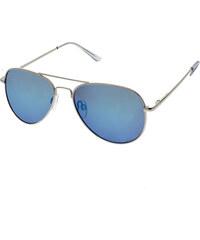 Identity Slnečné okuliare pilotky Miracle strieborné rámy modré sklá 86a0ba4e314