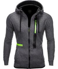 Ombre Clothing Pánská mikina na zip s kapucí Flink tmavě šedá 110f3b7c81