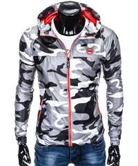 Ombre Clothing Férfi sportos dzseki kapucnival Myles terepmintás-fehér c27102b294