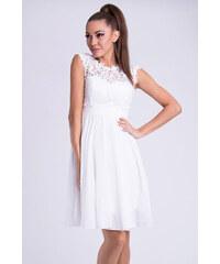 Bílé společenské šaty z obchodu ChicMix.cz - Glami.cz 4b5a9b86f7