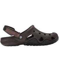 Pánske topánky Crocs SWIFTWATER Clog hnedá   čierna 43-44 d9af96fe354