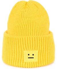 Art of Polo Zimní čepice s poker face motivem žlutá 248a548cbb