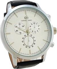 Pánské kožené hodinky Giorgio Dario Lain černé 342P 2905d5108e