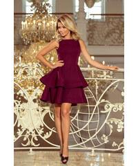933a2e6fb2fb Glamor Krátke fialové spoločenské šaty s čipkovaným kabátikom. Detail  produktu · Strikingstyle 169-7 Šaty Christina   bordové