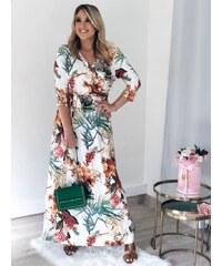 Šaty so vzorom s dlhým rukávom z obchodu Zazza.sk - Glami.sk aa28e08f145