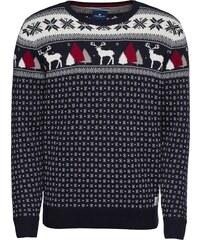 TOM TAILOR Svetr  christmas sweater  noční modrá   bílá c10062a653