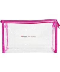 eKAPO Priehľadná kozmetická taštička 23x14x6 cm - ružová c0d7e48db2c