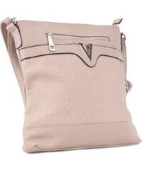 Tapple Veľká hnedá dámska crossbody kabelka s khaki nádychom H17151 ... 983aafb6178