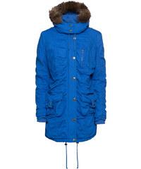 MODOVO Dámska zimná bunda s kapucňou B-745 modro-púdrová - Glami.sk dc37fc85d99