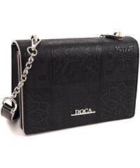 Crossbody kabelka DOCA 13868 - čierna 12bfb4625e8