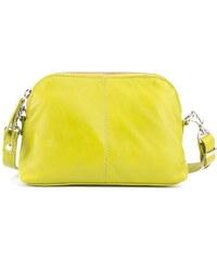VERA PELLE Zeleno žlutá dámská kožená crossbody kabelka přes rameno Bruna 4c87c761ae8