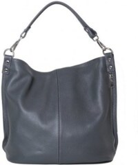 9bc40086c77 TALIANSKE Talianska luxusná kožená kabelka cez plece shopperka sivá Ludmila