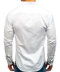 eb7230780ca8 Biela pánska elegantá košeľa s dlhými rukávmi BOLF 8824 - Glami.sk