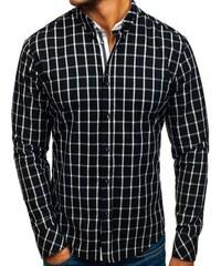 Černá pánská kostkovaná košile s dlouhým rukávem Bolf 8825. 559 Kč 5694543bb3