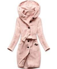 LIBLAND Dámský podzimní kabát tmavě růžový(6004) - S (36) - Glami.cz 2e870e35a3