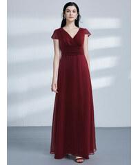 Krásné jednoduché šaty Ever Pretty Bordo 7583 c3a02d2021