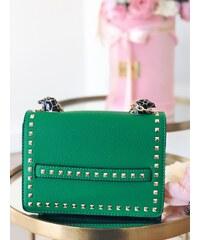 ad2a0b7db4e2 ZAZZA Zelená kabelka s detailom pantera