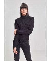 14190ff2bb07 URBAN CLASSICS Dámsky čierny sveter Ladies Short Turtleneck Sweater