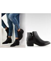 9b90310fef5 BELER Dámské kožené kotníkové boty Alanna černé