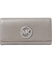 Kožená peněženka Michael Kors Fulton flap grey silver fbd1a3b7dd5