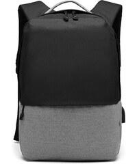 KONO černý elegantní batoh nepromokavý s USB portem UNISEX ac2d4656bb