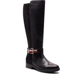 14fc399ebd1 Kozačky ve vojenském stylu TOMMY HILFIGER - Corporate Belt Long FW0FW03313  Black 990
